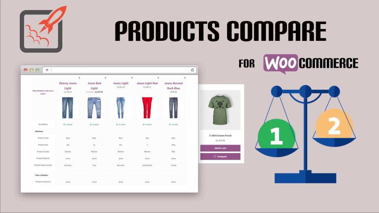 woocommerce compare product