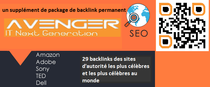 Vente aux enchères!mokammel-3 Achetez un supplément de package de backlink permanent