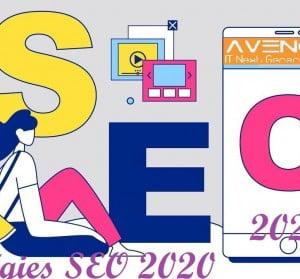 pour les stratégies SEO 2020 n'oublient jamais le; moteurs de recherche, optimiser la recherche vocale, l'interface mobile =votre rang, le taux de clics sur les pages.