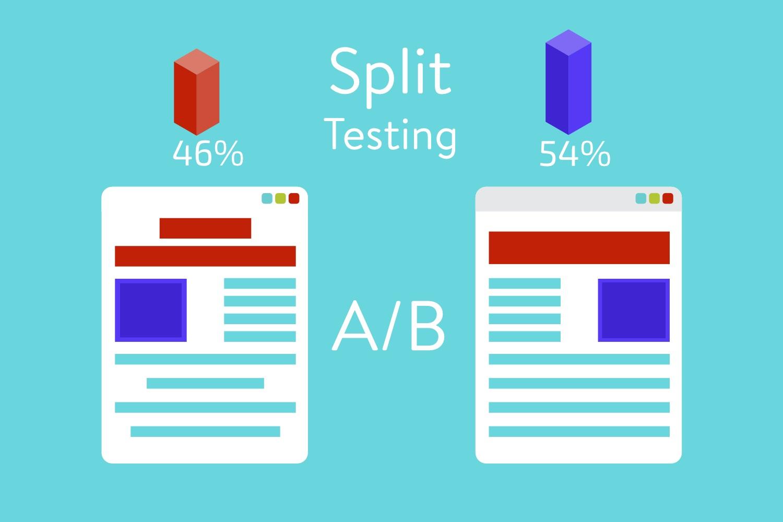conversion rate optimization - A / B split test