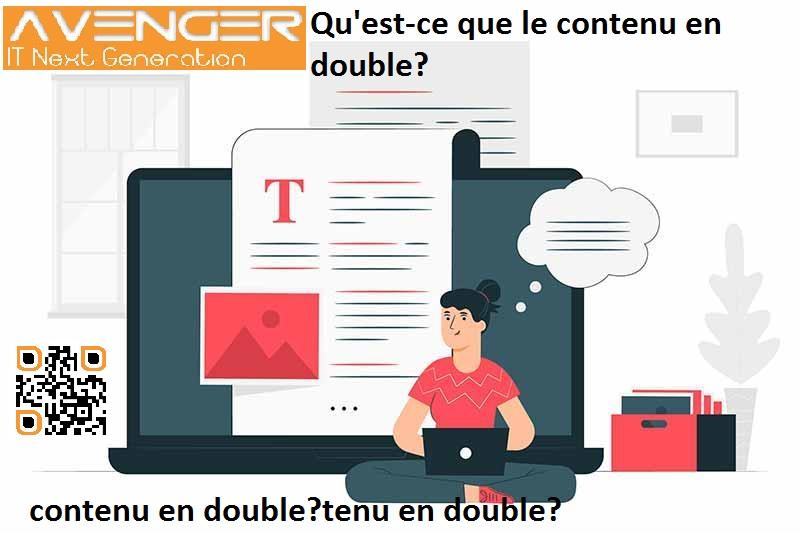 Comment réparer le contenu en double?