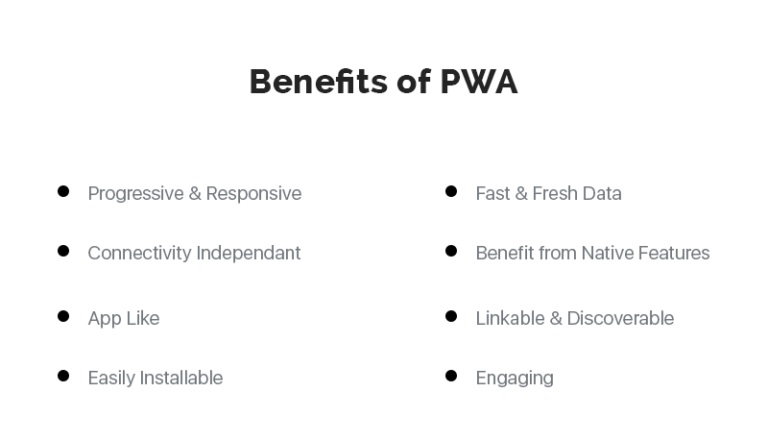 Progressive Web Apps Benefits