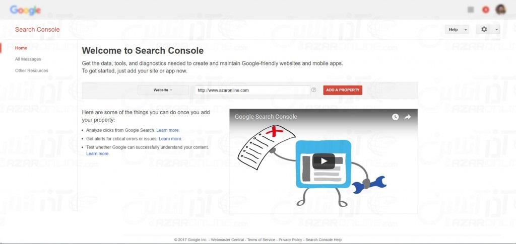 Google Site Registration - Add Site