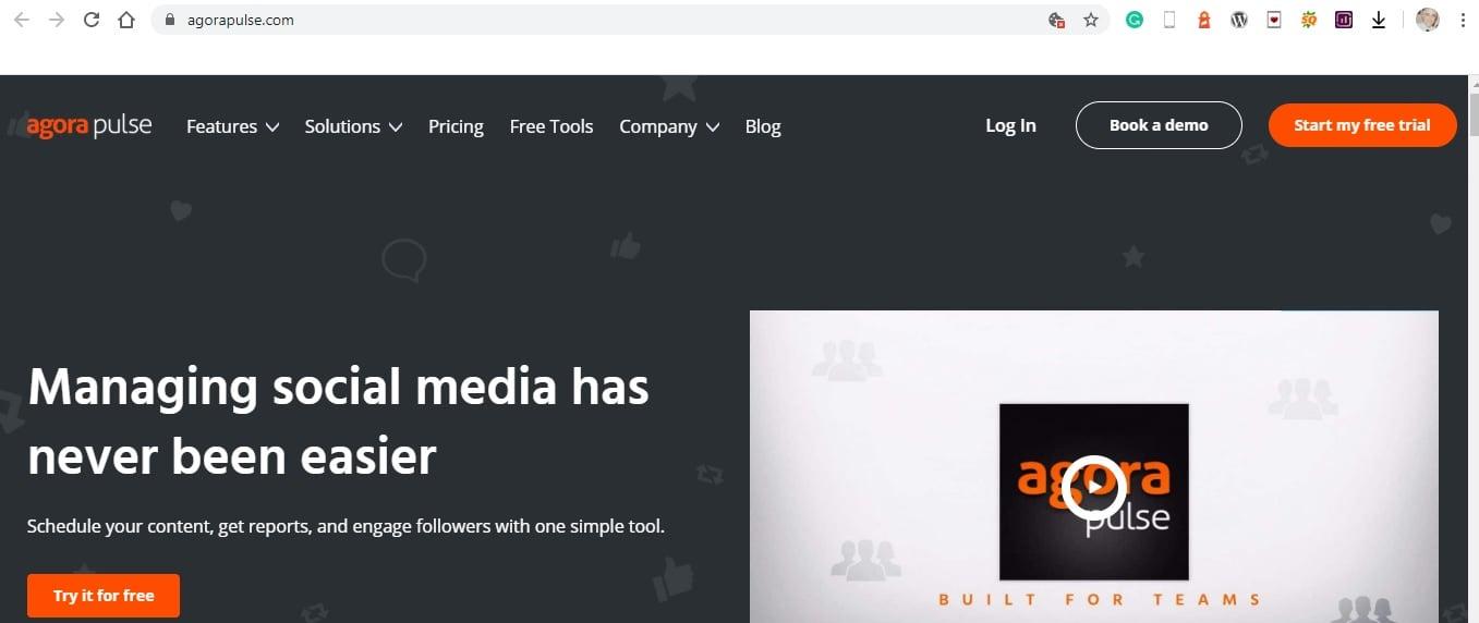 Agora Pulse - Digital Marketing Tools