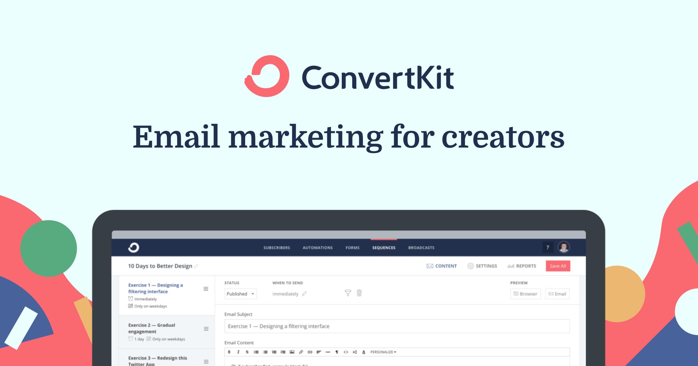 service de marketing par e-mail - ConvertKit