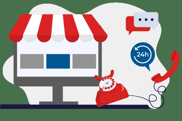 Online store support boutique en ligne