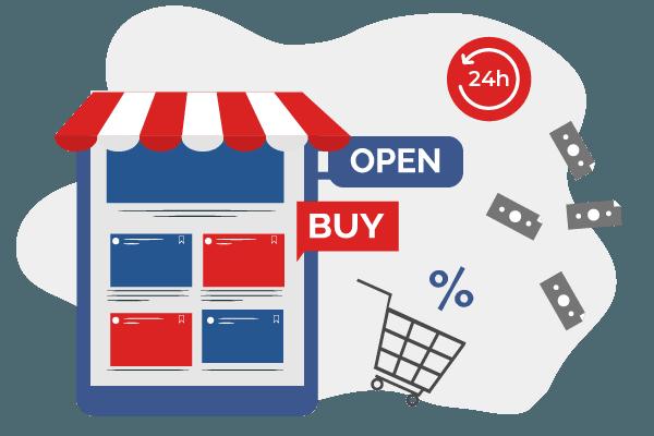 Online store app boutique en ligne