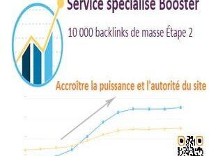 Service spécialisé Booster backlink