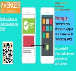 forfait migration au PWA - Web progressive app