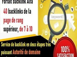 Package Alpha, 40 backlinks permanents à partir du Page Rank 10 + Site 40 jours Rank Augmentation Rank