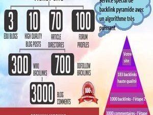 Service spécial de backlink pyramide avec un algorithme très puissant