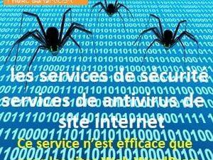 les services de sécurité et services de antivirus de site internet