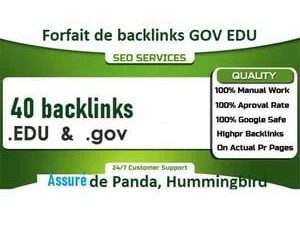 40 backlinks de domaines .EDU et .gov