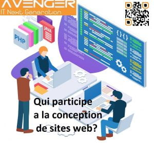 Qui participe a la conception de sites web?