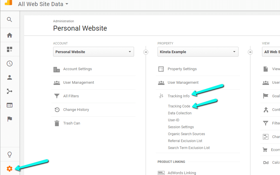How to find Tracking ID in Google Analytics?