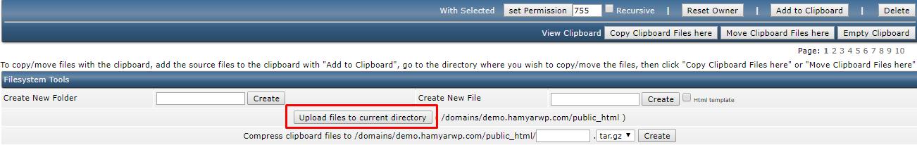 choose file- Install WordPress on Direct Admin