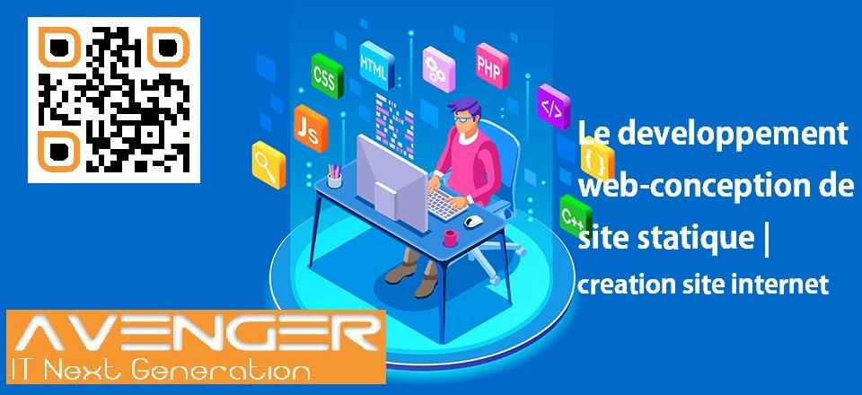Le developpement web-conception de site statique | creation site internet