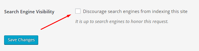 Ensure the website is seen by search engines in WordPress