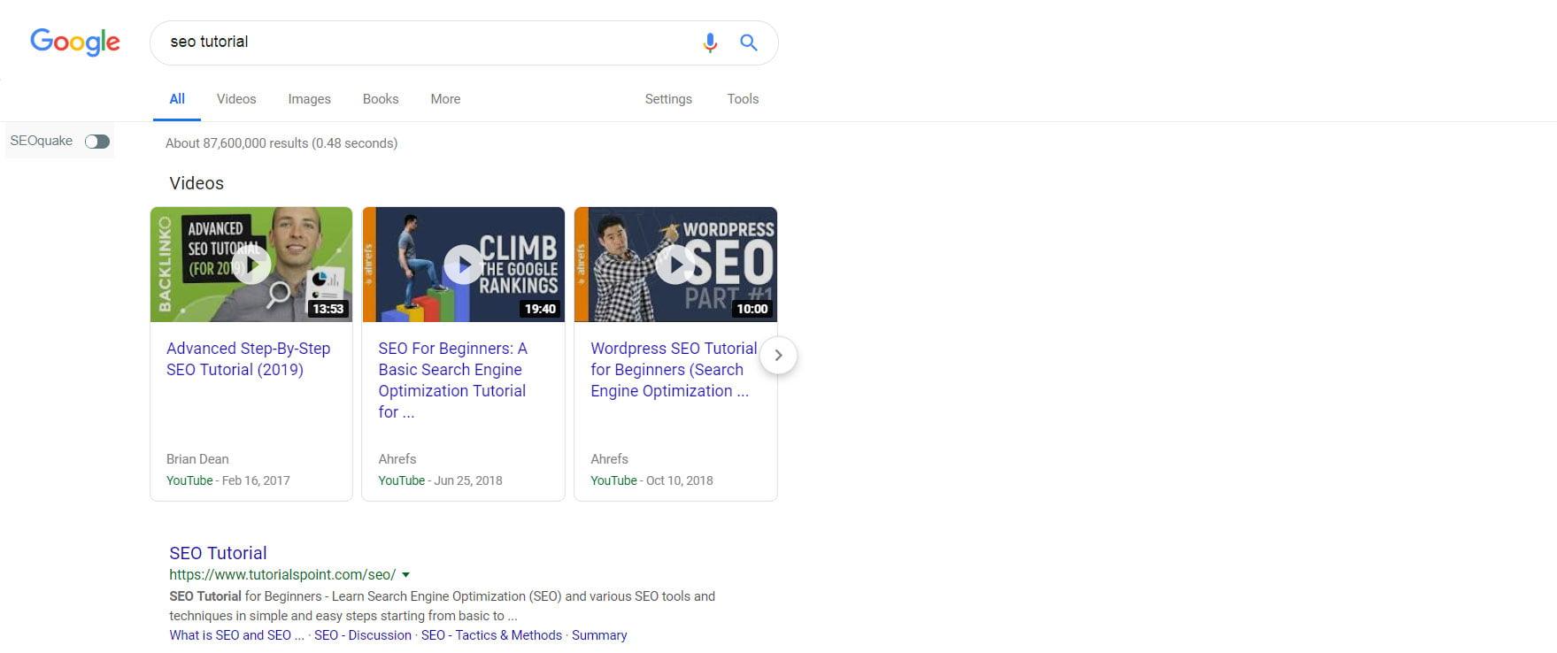 Video optimization on YouTube for Google